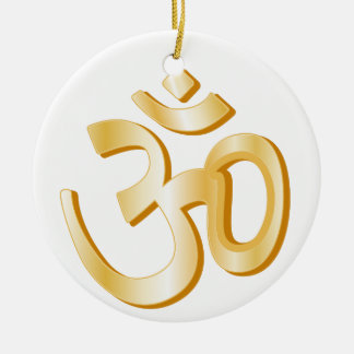 Hindu Symbol Ceramic Ornament