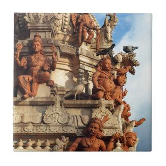 Hindu Temple gopuram Batu Caves Malaysia Tile