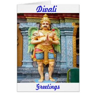 Hindu temple statue card