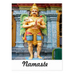 Hindu temple statue post cards