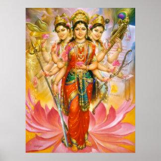 Hindu Three Goddesses Canvas Print