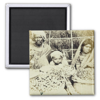 Hindu Vegetable and Fruit Sellers in Madras, 19th Magnet