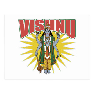 Hindu Vishnu Postcard