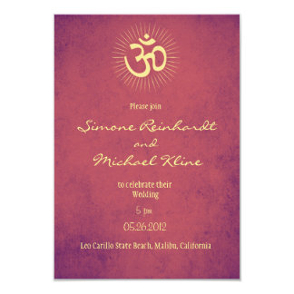 Hindu Wedding Invitation, OM symbol Card