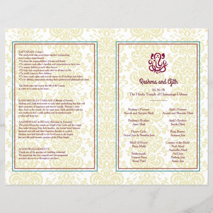 Hindu Wedding Program