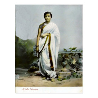 Hindu woman postcard