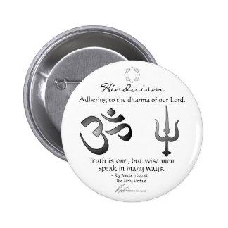 Hinduism - botón del paso pin redondo de 2 pulgadas