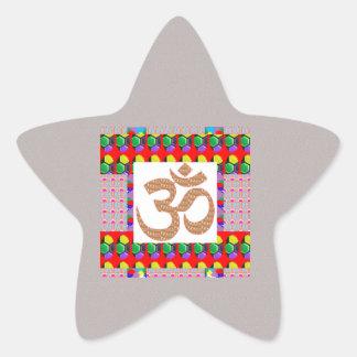 Hinduism del símbolo de la meditación de la yoga colcomanias forma de estrellaes