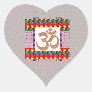 Hinduism del símbolo de la meditación de la yoga calcomania corazon personalizadas