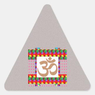 Hinduism del símbolo de la meditación de la yoga calcomanía trianguloada