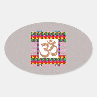 Hinduism del símbolo de la meditación de la yoga calcomanías de óvales