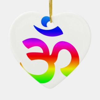 Hinduism (Ohm) Symbol Ceramic Ornament