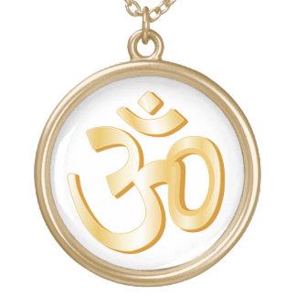 Hinduism Symbol Round Pendant Necklace