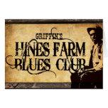 Hines Farm Blues Man Greeting Cards