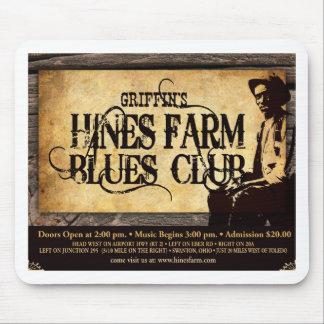 Hines Farm Blues Man Mouse Pads