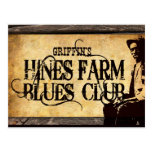 Hines Farm Blues Man Post Card