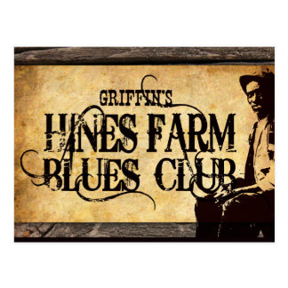 Hines Farm Blues Man Postcard