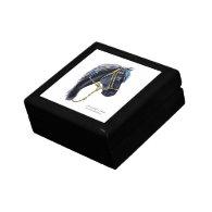 Hinged Gift Box, Black Peruvian Horse Head