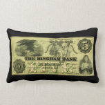 Hingham 1860 Massachusetts nota de cinco dólares Cojines