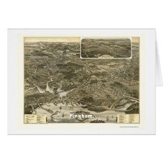 Hingham, MA Panoramic Map - 1885 Greeting Cards