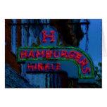 Hinkle's Hamburgers Sign Greeting Card