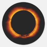 Hinode observa un eclipse solar anual pegatinas redondas