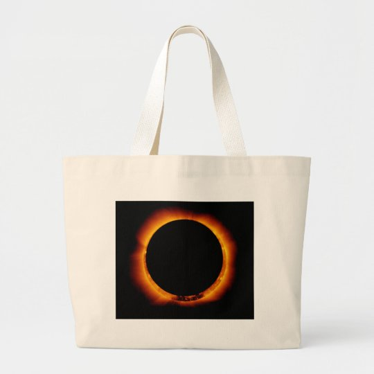 Hinode Observes an Annual Solar Eclipse Large Tote Bag