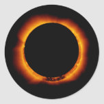 Hinode Observes an Annual Solar Eclipse Classic Round Sticker