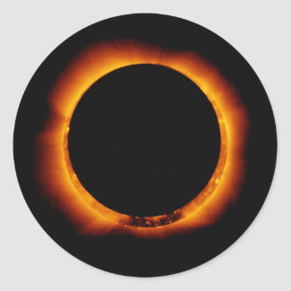Hinode Observes an Annual Solar Eclipse Stickers