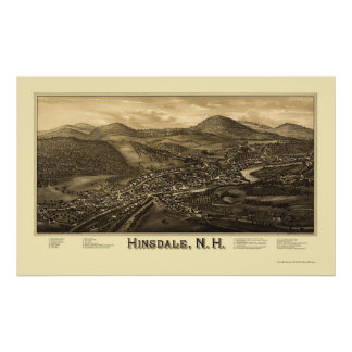 Hinsdale, NH Panoramic Map - 1886 Posters