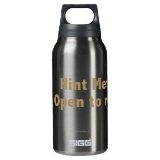 Hint Meter. Open to Refill. Gold Insulated Water Bottle