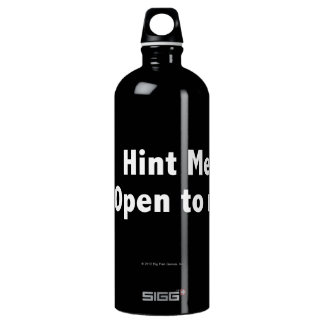 Hint Meter. Open to Refill. White Aluminum Water Bottle