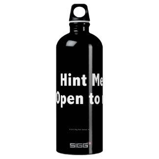 Hint Meter. Open to Refill. White Aluminum Water Bottle