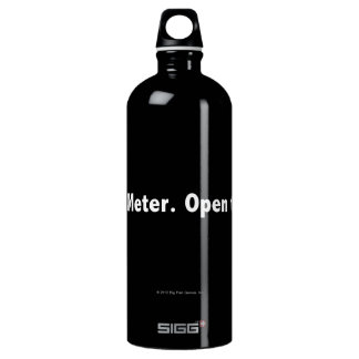 Hint Meter. Open to Refill. White Water Bottle