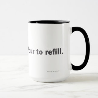 Hint Meter. Pour to Refill. 1 line Grey Mug