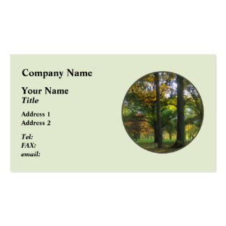 Hint of Autumn Double-Sided Standard Business Cards (Pack Of 100)