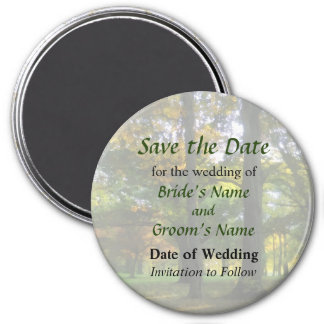 Hint of Autumn Save the Date Magnet