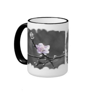 Hint of Pink Cherry Blossom Ringer Mug