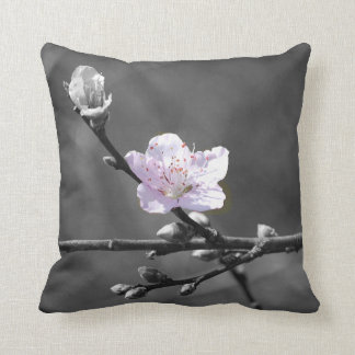Hint of Pink Cherry Blossom Throw Pillow