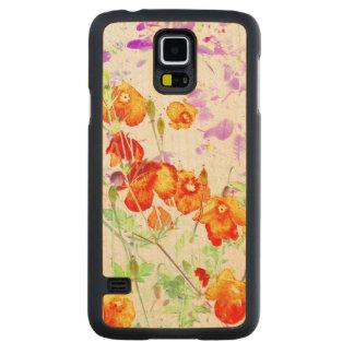 hint of poppy Samsung Galaxy S5 wooden phone case