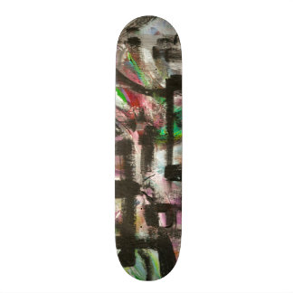 Hint of Spring-Hand Painted Abstract Brushstrokes Skateboard Deck