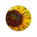 Hint of Sunshine Round Clocks