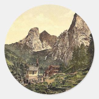 Hinterbarenbad, Upper Bavaria, Germany vintage Pho Sticker