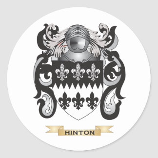 Hinton Coat of Arms (Family Crest) Classic Round Sticker