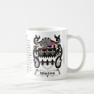 Hinton Family Coat of Arms Mug