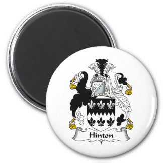Hinton Family Crest 2 Inch Round Magnet