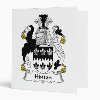 Hinton Family Crest Binder