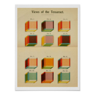 """Hinton's """"View of the Tessaract"""" Poster"""