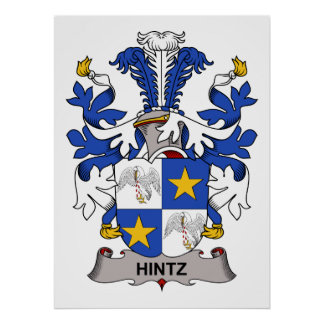 Hintz Family Crest Poster