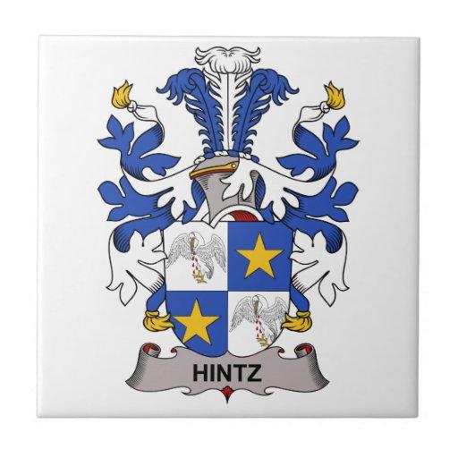 Hintz Family Crest Small Square Tile